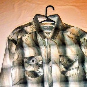 BKE Long sleeve button up casual shirt